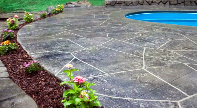 Stamped Concrete:  The best option for Swimming Pool Decks - COST EFFECTIVE!!!!!!!
