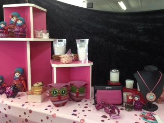 take a closer look at our pink table!