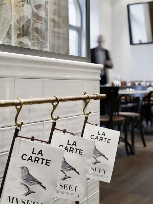 Love how tidy this is for newspapers  Restaurant Museet in Stockholm | NordicDesign
