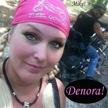 Denora rocking her Crystal Bling Motorcycle Bandana Headwrap by Steel Cowgirl  <3