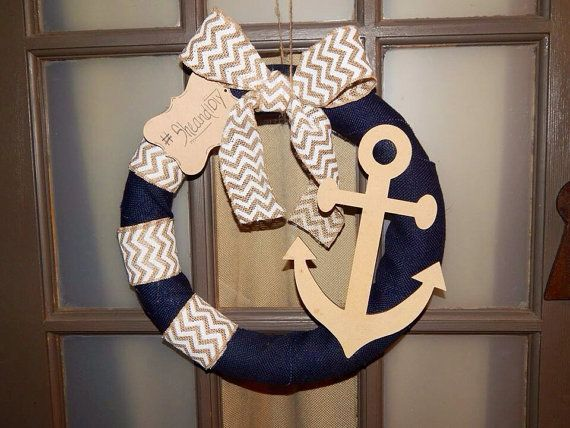 Anchor Wreath by SheandIDIY on Etsy, $35.00