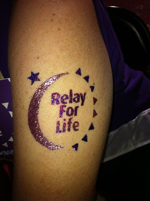 Best 25 relay for life ideas on pinterest cancer for Breast cancer face tattoos walmart