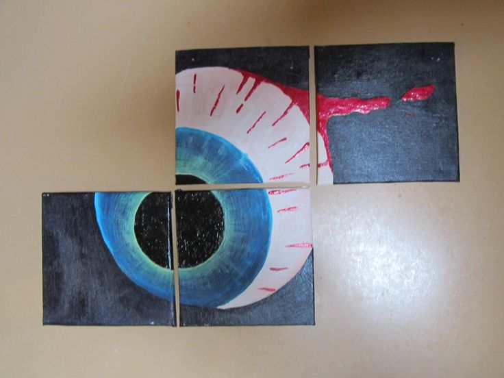 eyeball coasters i painted and lacqured
