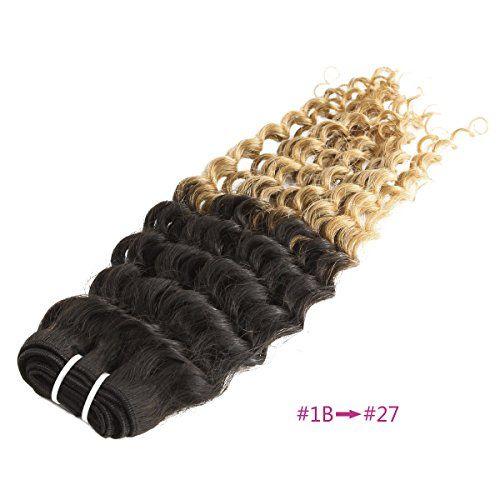 Yewig 1pcs Extensions de cheveux 100% Vrai cheveux Noir à Blond Frisé/bouclé Naturel 100g #1B à #27 50cm | Your #1 Source for Beauty Products