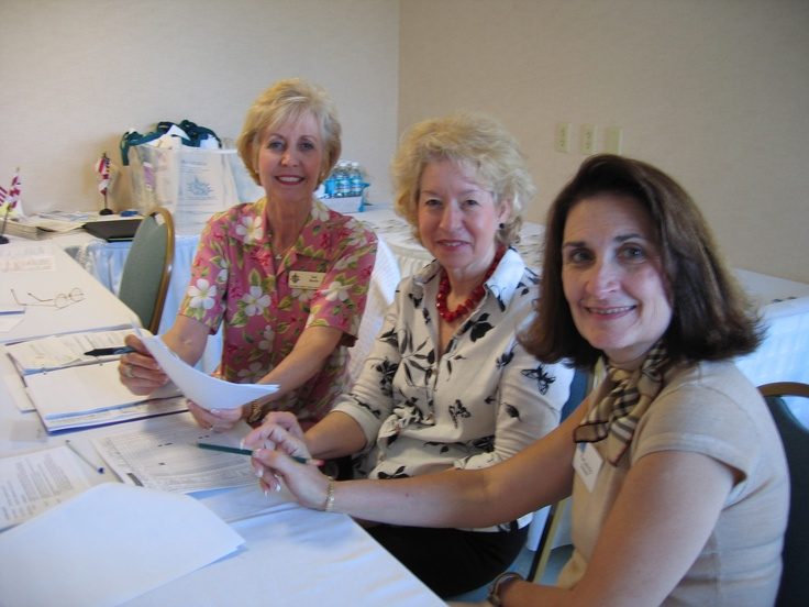 Conference Check-in team  led by Sue Rosin (left) at the Florida Sister Cities Conference at the Helmsley Sandcastle on Lido Key in Sarasota in 2005