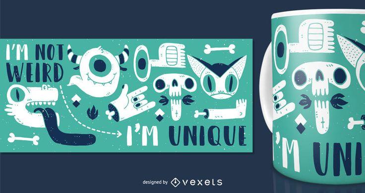 Monster mug merchandise design