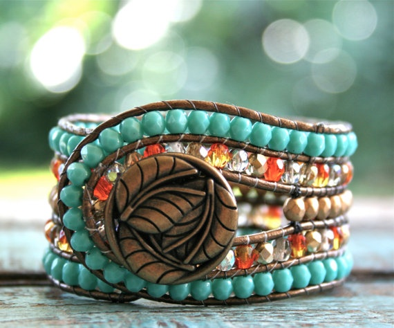 Links of Hope Cuff Wrap Bracelet Limited Edition by linksofhope, $50.00