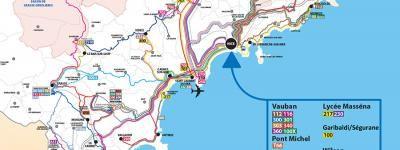 Lignes d'Azur · Tram, Shuttle and Bus Route Maps