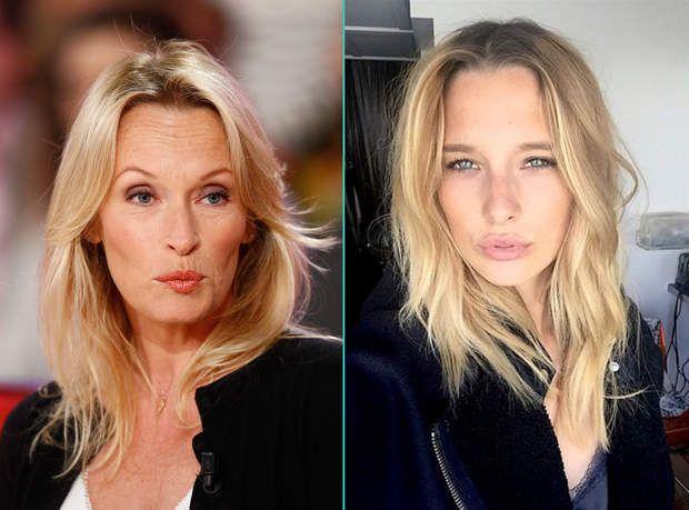 Estelle Lefébure et sa fille Ilona Smet, aussi blonde et mannequin que sa mère