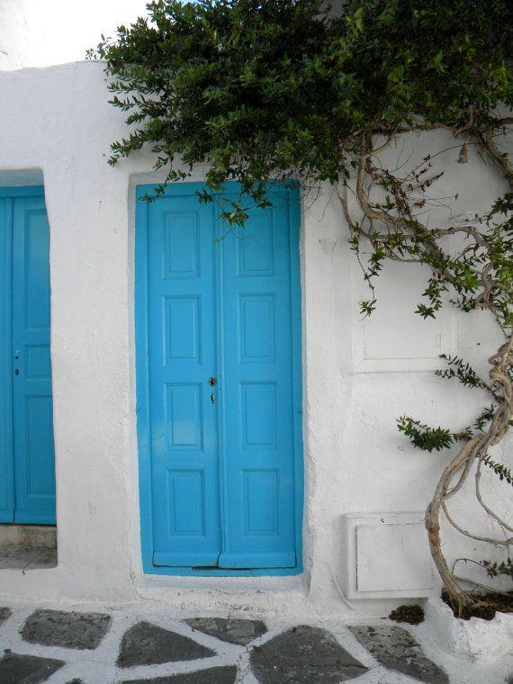 Travel photo print blue home decoration wall decor by prosinemi