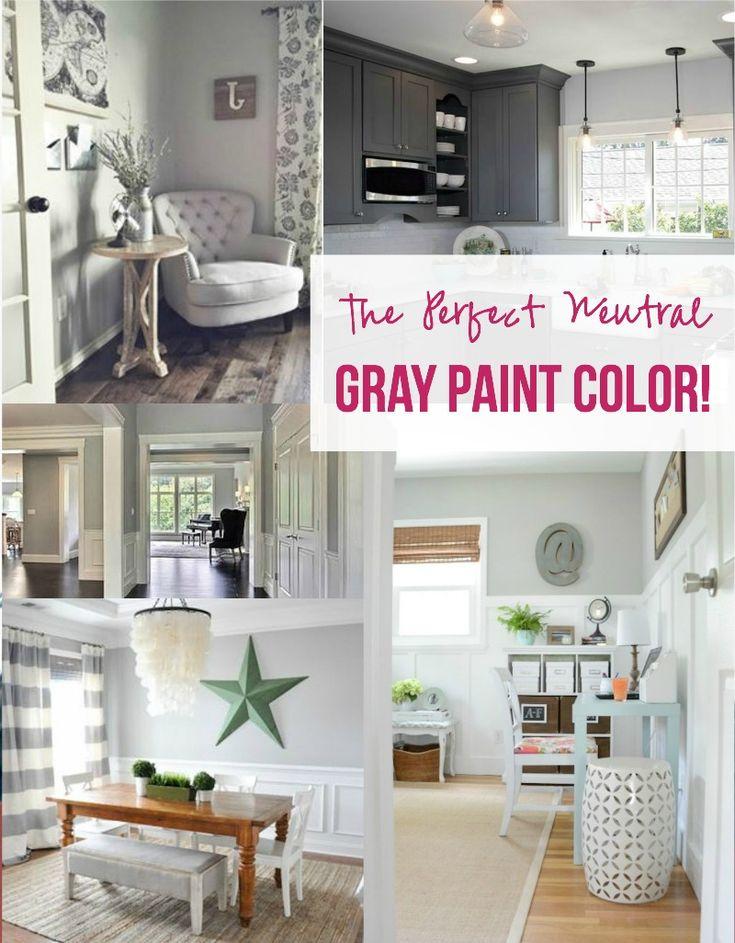 The Perfect Neutral Gray Paint Color Paint Colors