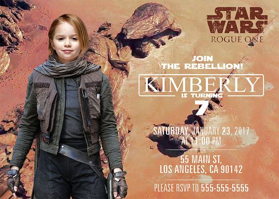 Star Wars Rogue One Digital invitation with photo by BogdanDesign