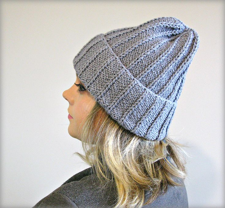 "Womens gray knit hat Gray gift girlfriend Slouchy beanie hat Personalized custom hat Clothing-gift Toddler hat Gift for best friend women  *****READY TO SHIP*****  Materials: eco yarn wool  Color hat in the photo : gray Size 21""-22"" (53-55 cm)"