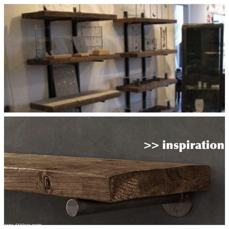Wood And Metal Wall Shelves 71 best metal brackets images on pinterest | cast iron, coat hooks