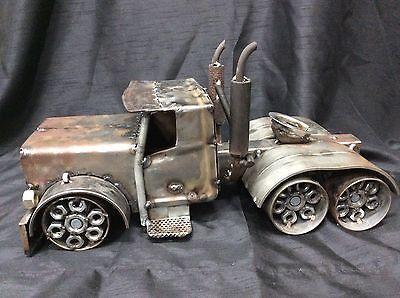 Домашний металл 18-колесный грузовик скульптура стимпанк народное искусство Безумный Макс большой стенд!