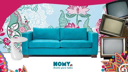 #Turquesa #Sofá #Kitsch #Homy #Deco