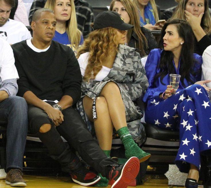 Beyoncé & Jay attend Warriors vs Spurs  Game 25th October 2016