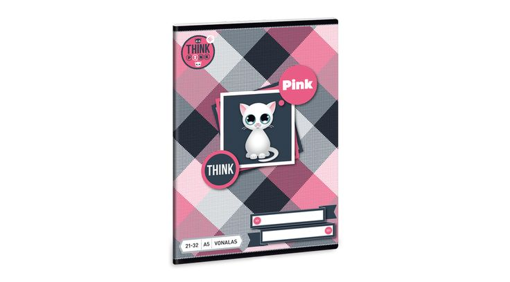 Think-Pink Füzet A/5 vonalas 21-32