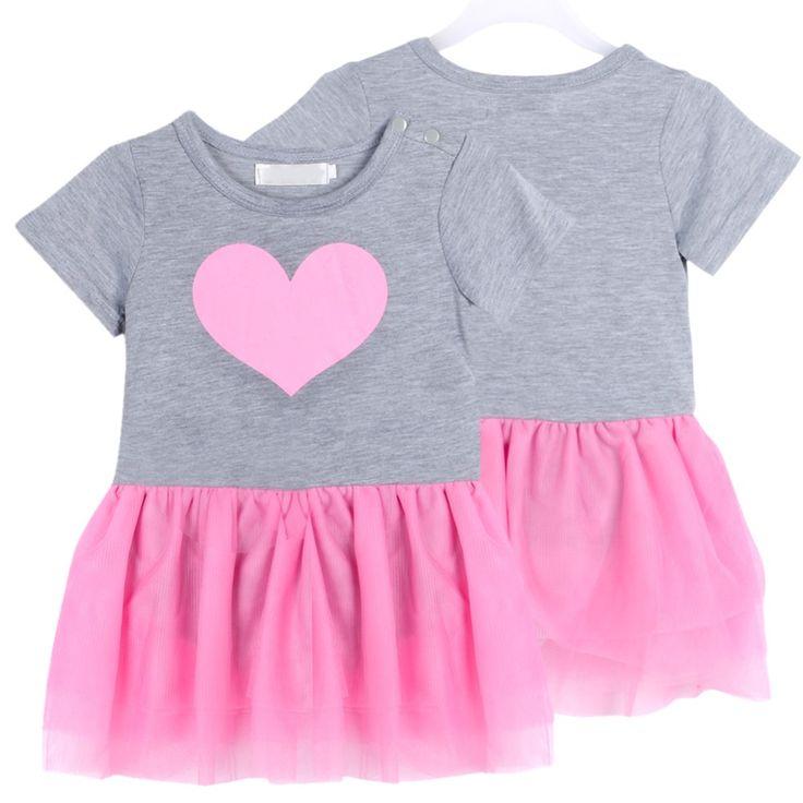 Купить товар Baby девушки новорожденный наряд футболка + туту платье день рождения комплект одежды SZ 1 3Y в категории Комплекты одежды на AliExpress. Девочка детей Пышные юбки платье марли Любовь печать с коротким рукавом платья, наряды 1-3г 100% новый и высокое качес