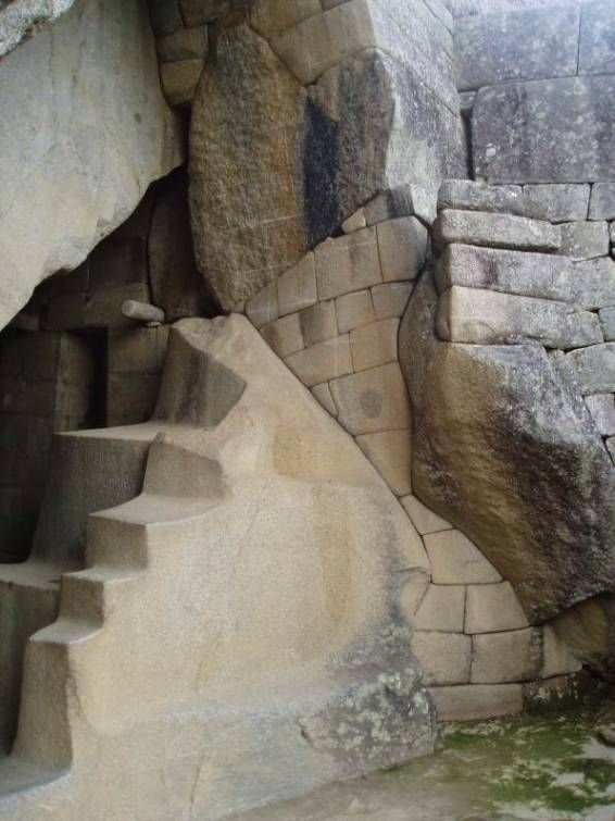 Machu Picchu, The finest stonework is found in the Sacred District. Below the temple is a cave known as the Royal Tomb, with more splendid stonework.