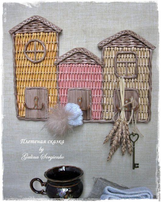"""handmade corredor.  Mestres Fair - feito à mão.  Comprar Governanta vime """"casas de diversão"""".  Handmade.  Governanta, tecelagem, papel"""