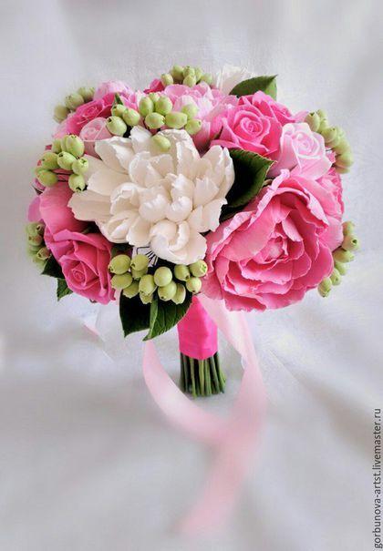 Polymer clay wedding bouquet / Свадебный букет, букет невесты, букет для невесты, букет для свадьбы, букет ручной работы, яркий букет на свадьбу, букет из полимерной глины от цветочного кутюрье Анны Горбуновой