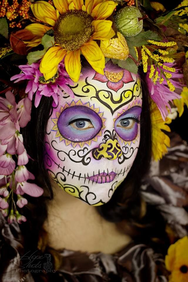 Hope Shots Photography Artist Unique Irish Model Amy D. Sugar Skull Face painting