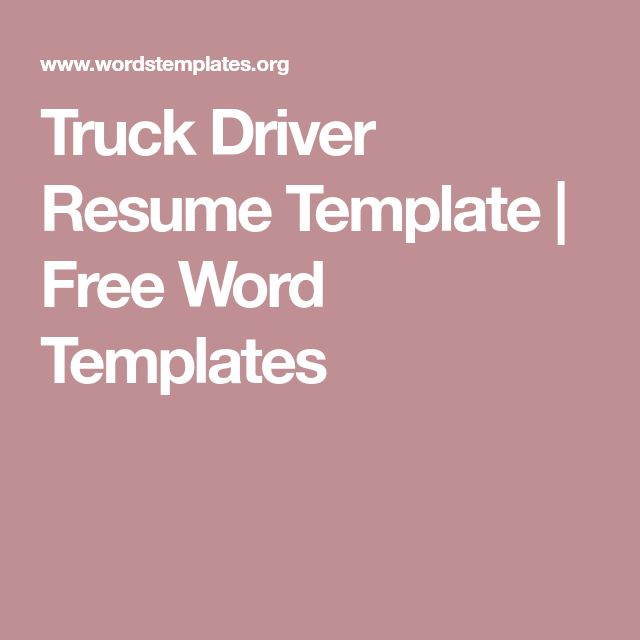 The 25+ best Resume template free ideas on Pinterest Resume - truck driver resume