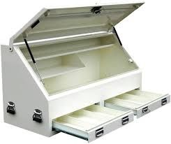 We stock a wide range of steel and aluminum tool boxes for heavy duty.  We carry a comprehensive line of steel  ute toolboxes. These are constructed from high quality materials to ensure their durability for heavy usage. You can also contact us for quality  truck toolboxes.  For more info visit http://damsteelfab.com.au/gallery/truck-fitout