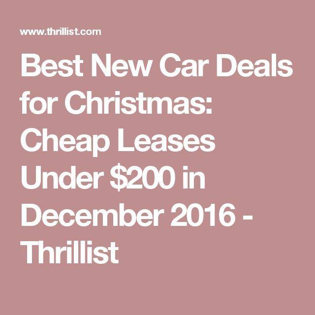 Best Christmas Car Lease Deals