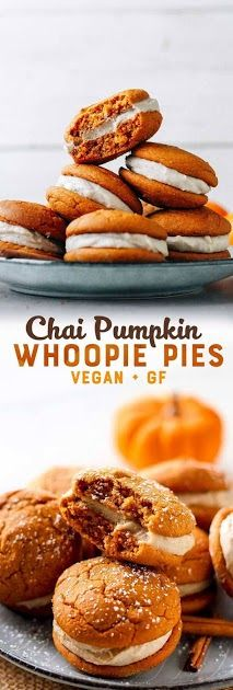 Pumpkin Whoopie Pies (Vegan + GF)