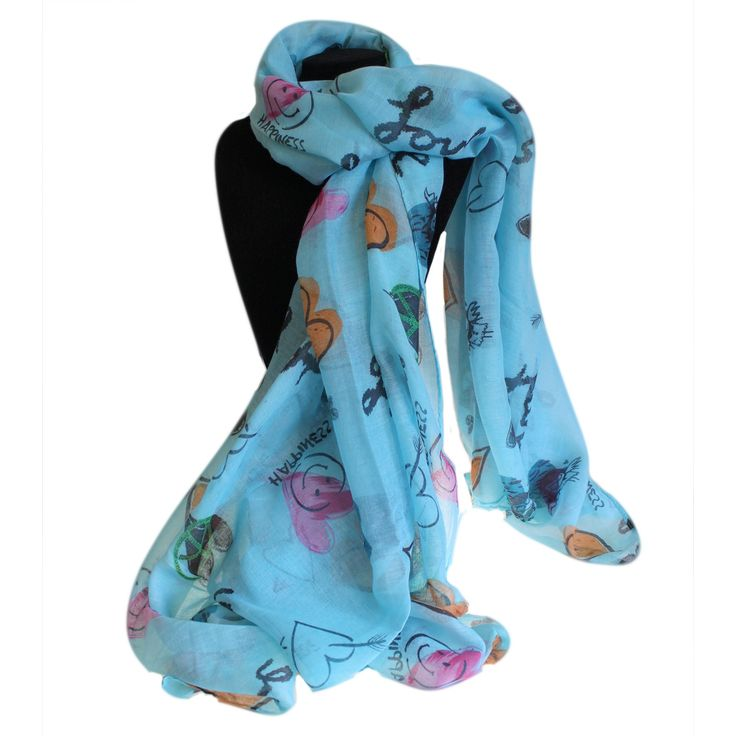 Wholesale Love Hearts Scarves - hipangels.com #Wholesale_Scarves_Blue_Heart #Blue_Hearts_Scarves #Hip_Angels_Blue_Scarves_Wholesale