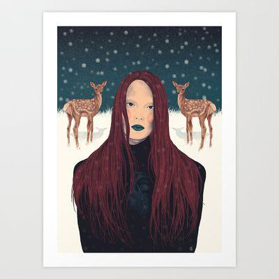Cold Winter Art Print by Sofia Azevedo - $18.00