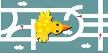 juegos de laberintos para niños, jugar online y gratis: pajarito