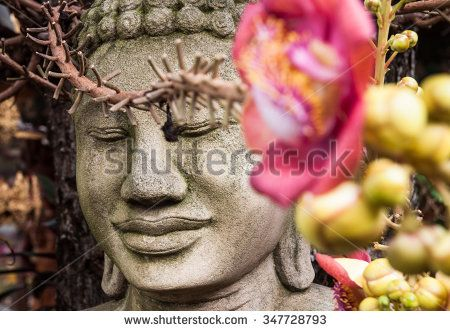 Buddha and flower. Royal Palace in Phnom Penh, Cambodia