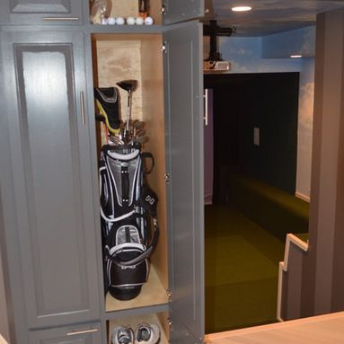 golf simulator rooms design ideas pictures remodel and decor