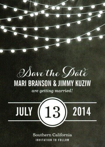 Save the Date-black and white