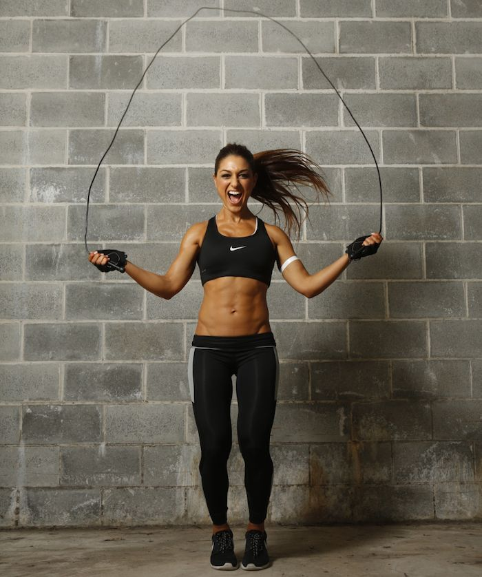 Fitness and joyfulness goes hand in hand.As a bonus having hot body.