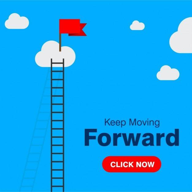 Keep moving forward  Free Vector