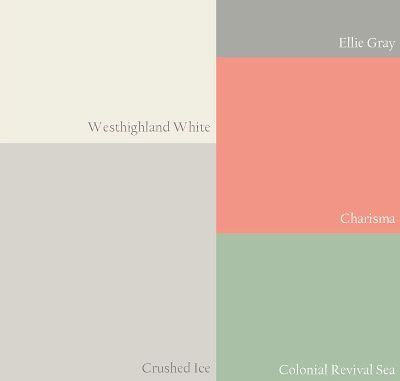 Coral and Mint (Sherwin Williams' colors)these would also be pretty for a little girls room