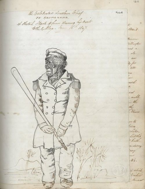 Te Rauparaha sketch | NZHistory, New Zealand history online