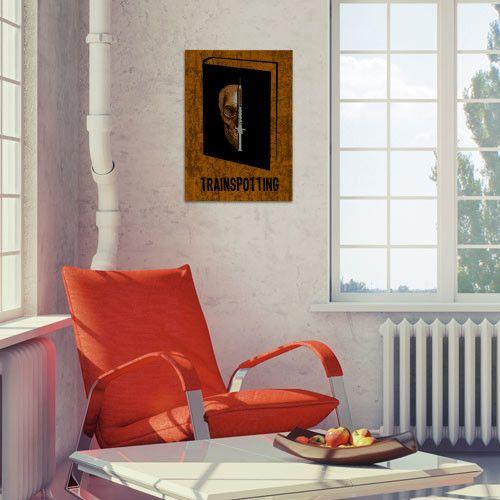 Trainspotting Book Poster by Emily Pigou #Trainspotting #book #bookcover #author #irvinewelsh #novel #renton #sickboy #spud #begbie #poster #movieposter #bookposter #gift #homedecor #booklovers #wallart #buyhomegifts #cinema #emilypigou #displate #Illustration