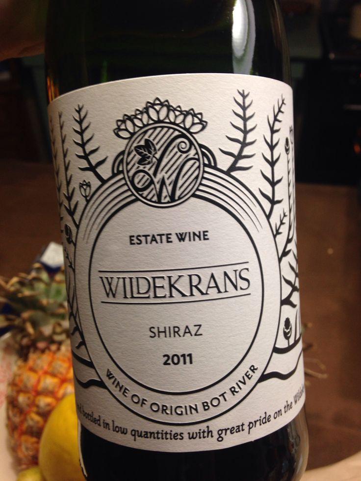 Wildekrans Shiraz, South Africa