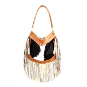 JIYA  CAMEL LEATHER HANDBAG