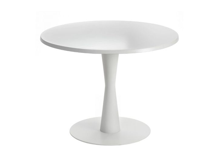 Mesa redonda de acero revestido de polvo CONI by Segis diseño Luigi Trenti