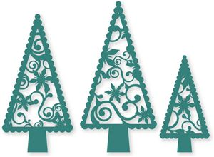 Again snowflakes & Christmas trees from the Silhouette Online Store!