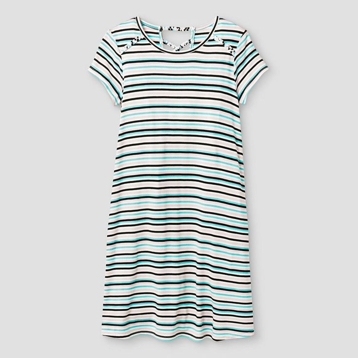 Girls' Knit T-Shirt Dress Art Class - Multicolored XS, Girl's, Multi-Stripe