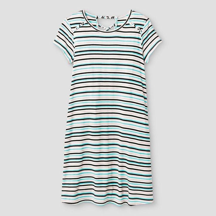 Girls' Knit T-Shirt Dress Art Class - Multi XL, Girl's, Multi-Stripe