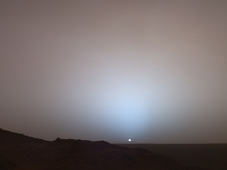 sun sets on mars nasa - photo #23