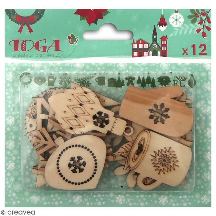 Compra nuestros productos a precios mini Surtido de figuras de madera - Feliz Navidad - 12 uds - Entrega rápida, gratuita a partir de 89 € !
